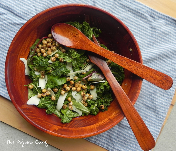 #TripleSBites: Caesar Salad with Fried Chickpeas
