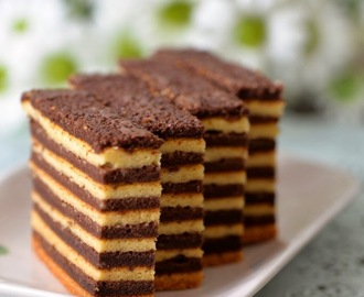 Chocolate Vanilla Kek Lapis / Lapis Legit / Spekkoek/ Indonesian Layer Cake