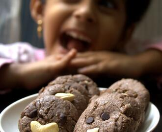 Eggless,Vegan Ragi/Finger Millet Cookies