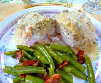 BACON-WRAPPED, STUFFED CREAMY CHICKEN