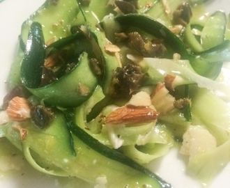Zucchini Ribbon Salad and Dressing