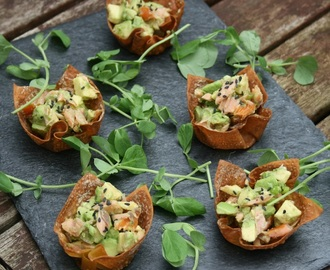 Salmon and Avocado Bites