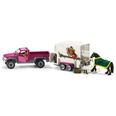 SchleichPick-up-bil med Hästtransport