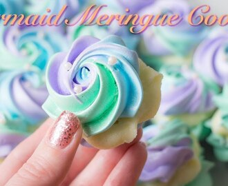 Mermaid Meringue Cookies with White Chocolate Ganache Filling!