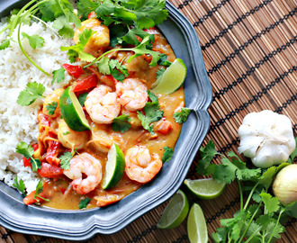Food Friday | Thaise curry met garnalen en mango