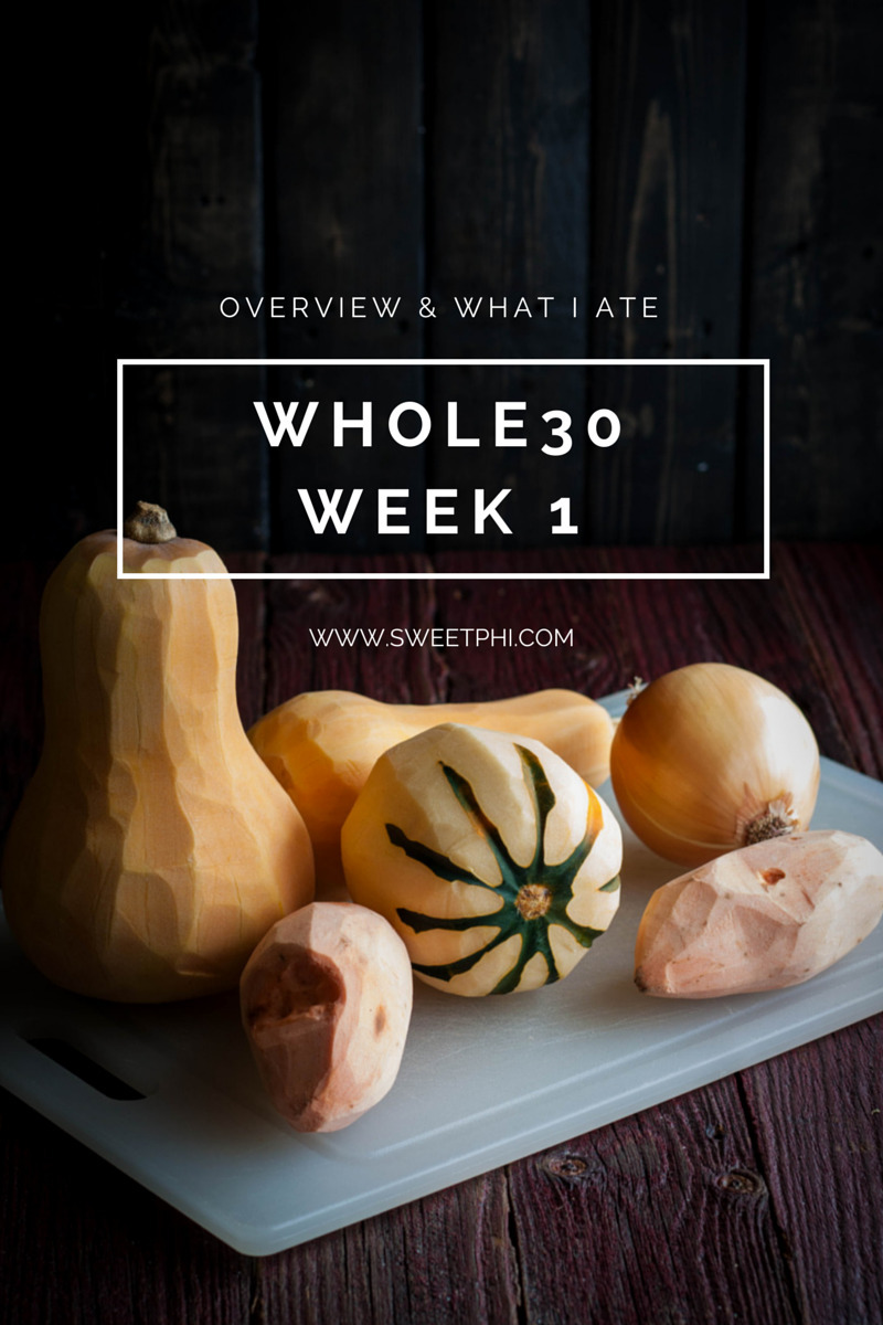 Whole30-Week 1 Overview & What I Ate