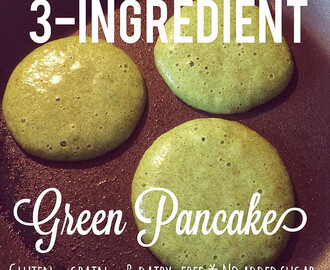 three-ingredient green banana pancakes