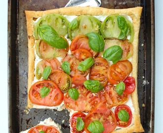 Easy Tomato Goat Cheese Tart