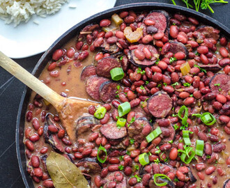 new orleanské fazole s rýží { red beans and rice }