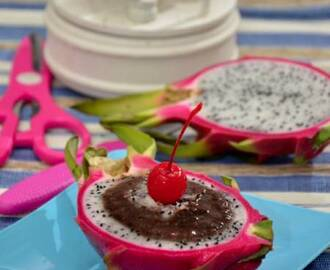 Dragon Fruit Chocolate Mousse