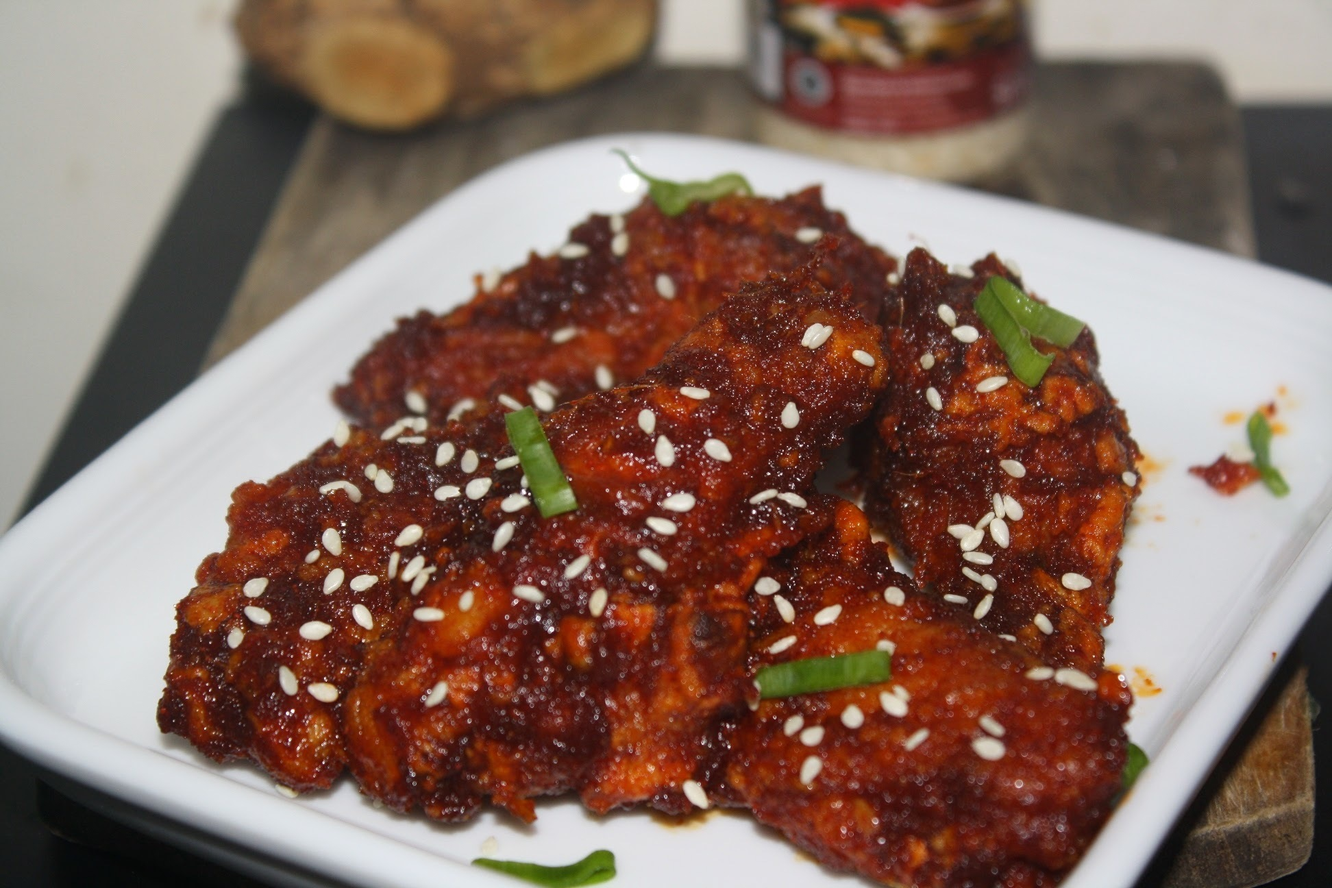 Korean Style Spicy Chicken Wing (Fried version)