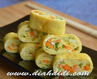 Korean Rolled Eggs ( Gyeran mari )