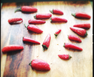 Indian Essentials: How to Dry Chillies and How to Make Chilli Powder