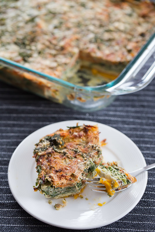 Spinach and Carrot Squares {Gluten-Free}
