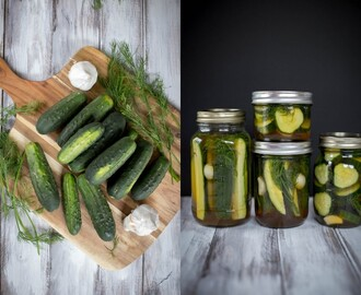 Crunchy Overnight Dill Pickles