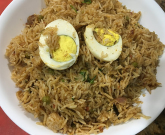 Spicy Egg Biryani with Coconut Milk ( IP Version)
