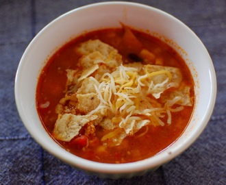 Slowcooker tortilla soup