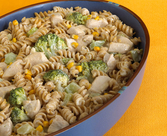Creamy Chicken-Broccoli Casserole with Whole Wheat Pasta