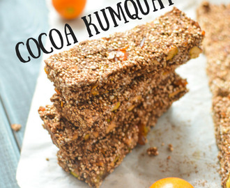 Healthy Cocoa Kumquat Granola Bars