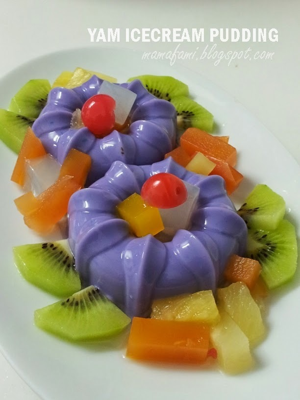 Yam Icecream Pudding