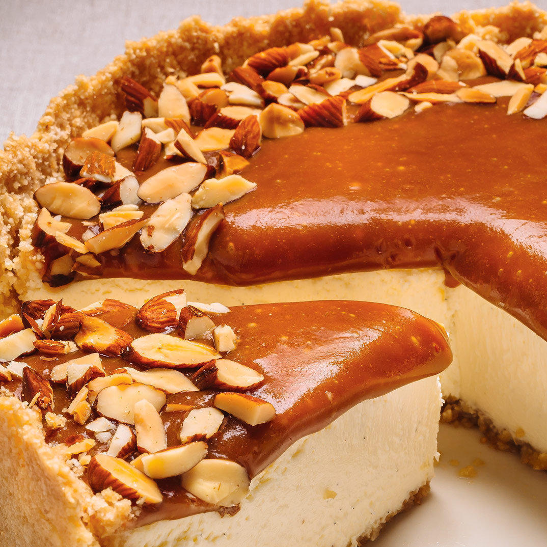 Caramel and Almond Cheesecake