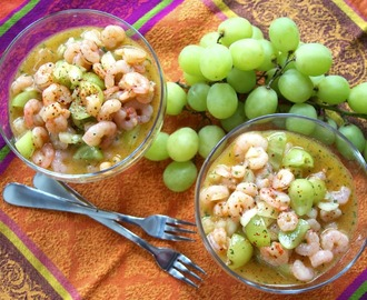Shrimp Salad: Tarragon, Mango, Grape #Winter Ceviche #French Fridays with Dorie