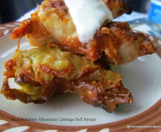 Rice Holubtsi- Ukrainian Cabbage Roll Recipe