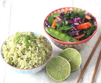 Thai Broccoli & Cauliflower Rice with Stir Fried Veggies