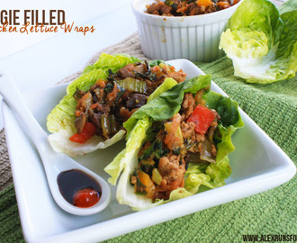 Veggie Filled Chicken Lettuce Wraps