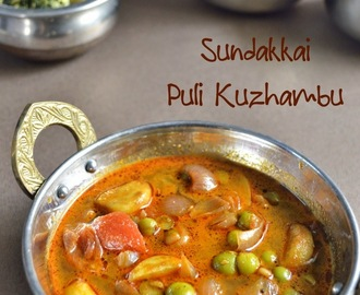 Sundakkai Puli Kuzhambu Recipe | Turkey Berry Tamarind Curry Recipe | Side Dish for Rice