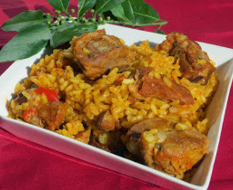 Arroz con costillas en olla GM
