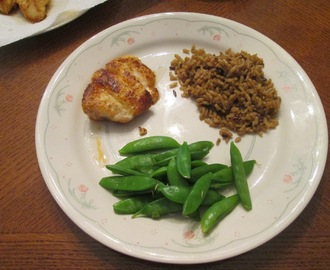 Blackened Grouper w/ Whole Grain Medley and Sugar Snap Peas