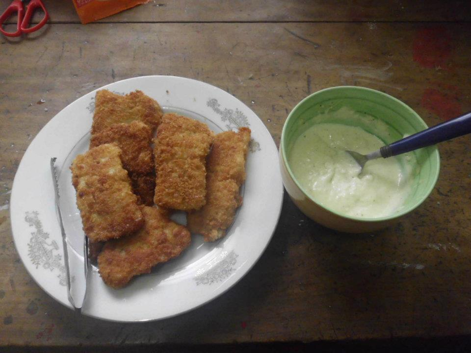 Cream Dory Fillet with Garlic dip