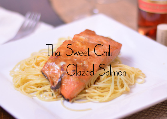 Thai Sweet Chili Glazed Salmon | #SundaySupper