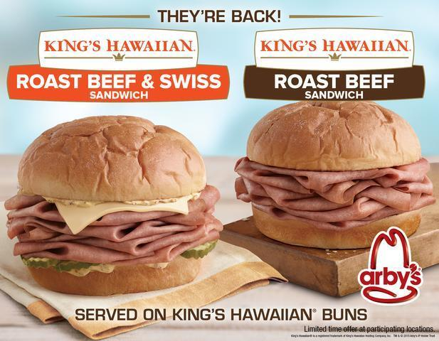 Arby's KING'S HAWAIIAN sandwiches are BACK!