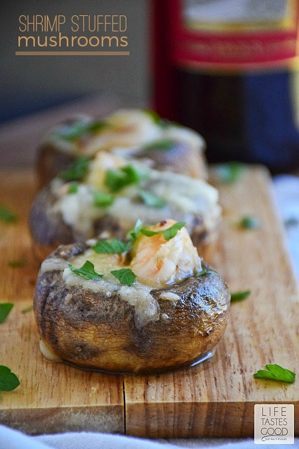 Shrimp Stuffed Mushrooms #SundaySupper