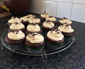 Chocolade koffie cupcakes