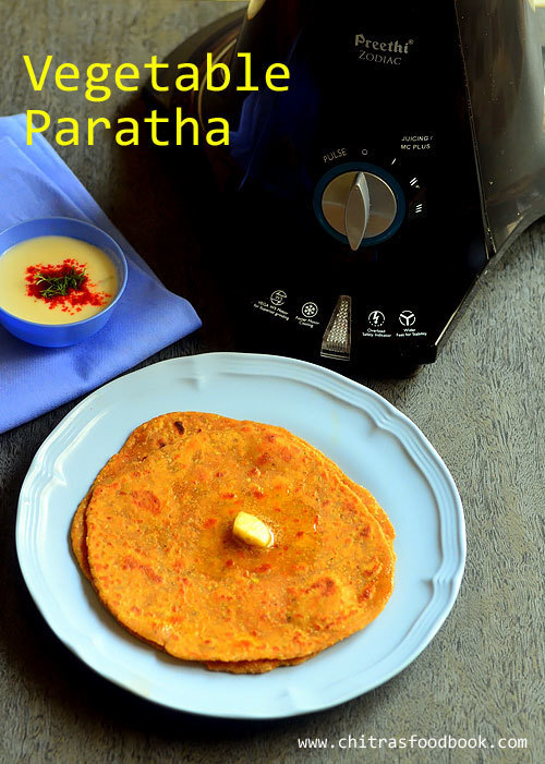 Mixed Vegetable Paratha Using Preethi Zodiac Mixer Grinder