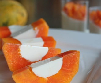 ♥ Papaya Coconut Panna Cotta ♥