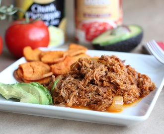 Pulled Pork with No Sugar Added BBQ Sauce [Paleo and Gluten-Free]