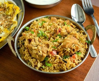 Chettinad Chicken Biryani / Seeraga Samba Chicken Biryani / Chettinad Style Chicken Biryani