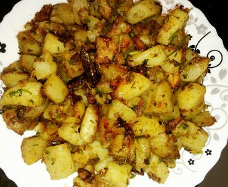 Potato Recipes- Garlicky Potatoes