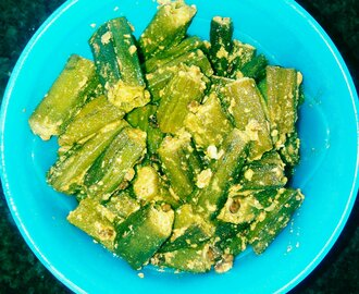 Bhindi in dahi / Okra in curd recipe
