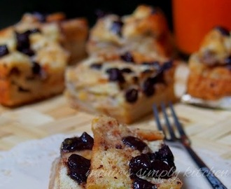 Bread Pudding Pisang & Chocochips