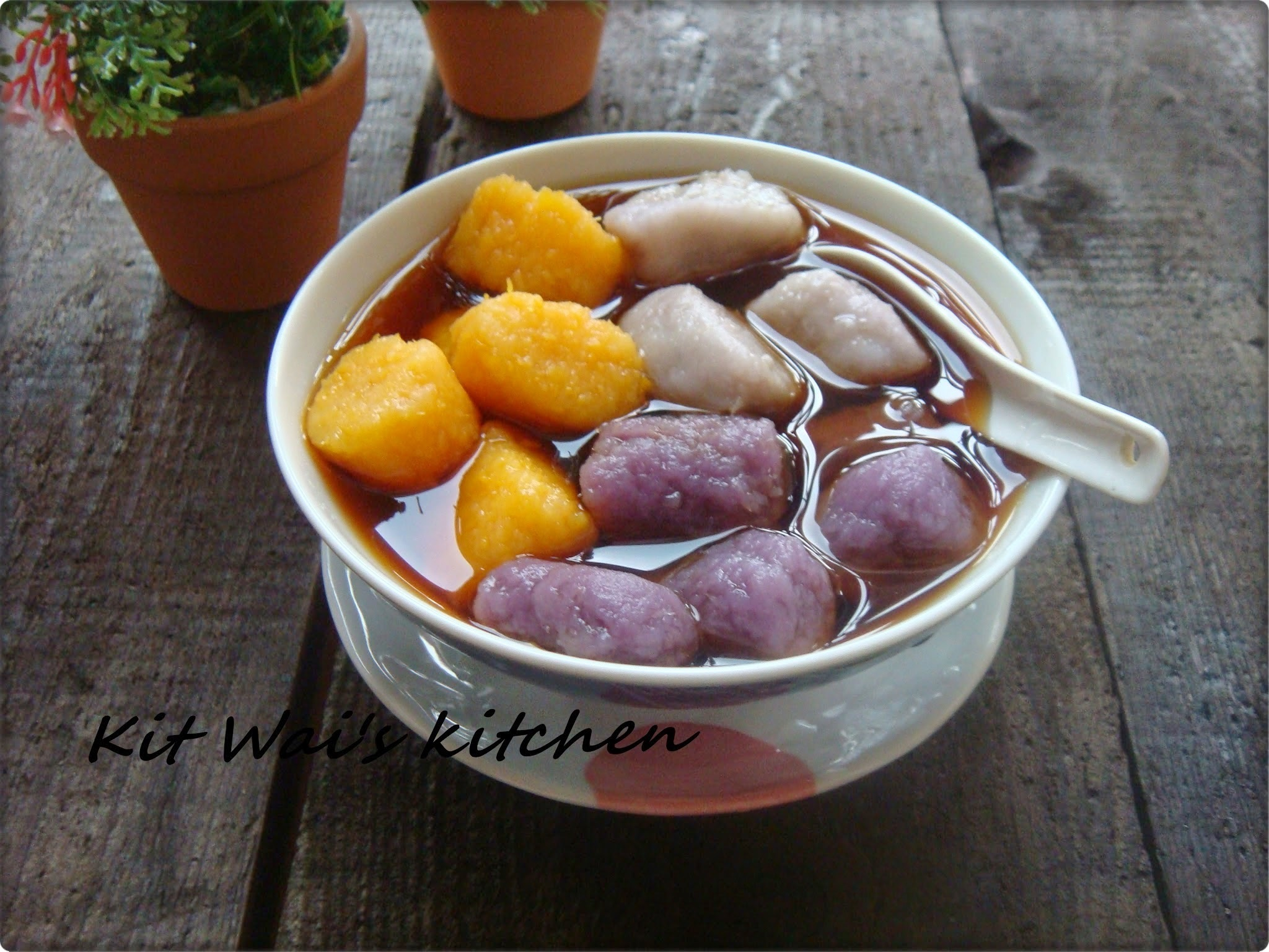 台湾九份芋圆 ~ Jiufen Taro and Sweet Potatoes Balls