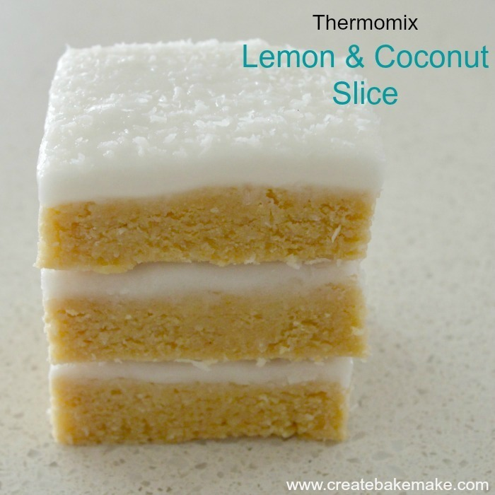 Thermomix Lemon and Coconut Slice