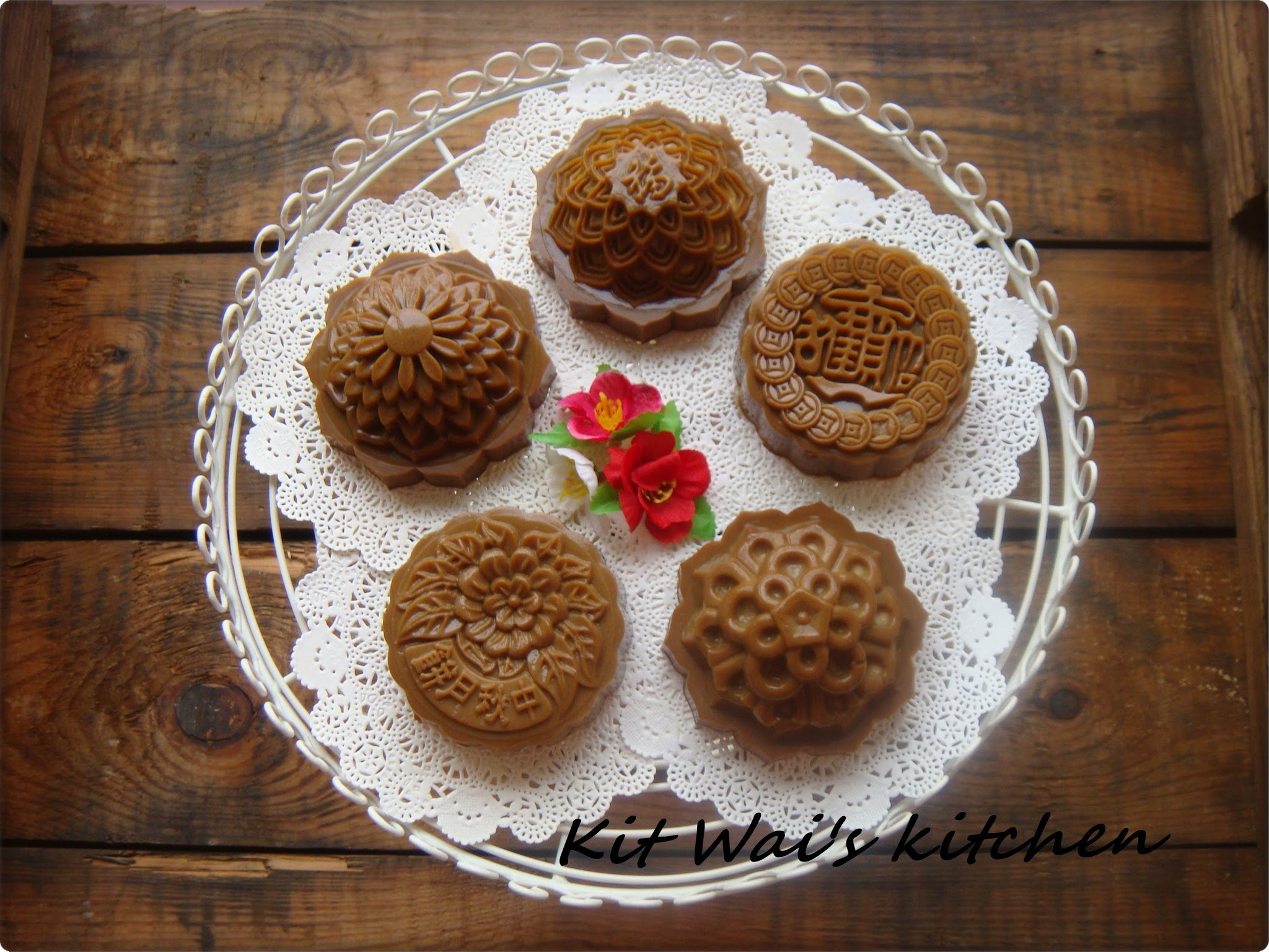 白咖啡燕菜月饼 ~ White Coffee Jelly Mooncakes