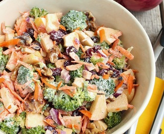 Fresh Broccoli & Apple Salad with Walnuts