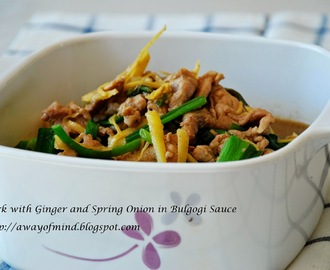 Pork with Ginger and Spring Onion in Bulgogi Sauce