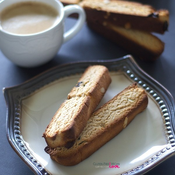 Gluten-Free Vegan and Paleo Cherry Almond Biscotti